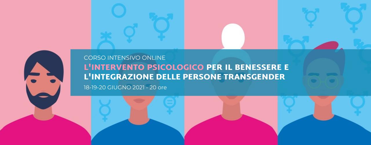 L'intervento psicologico per il benessere e l'integrazione delle persone transgender